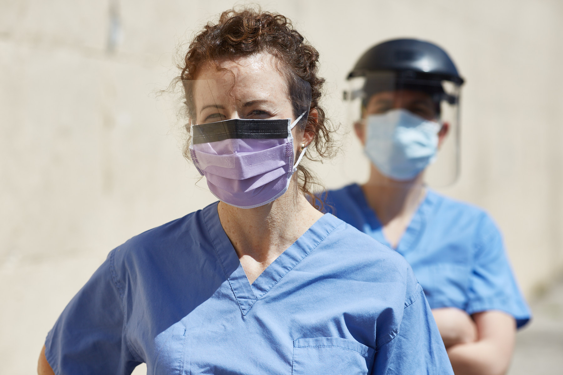 model released nurses and healthcare workers during coronavirus stock photos