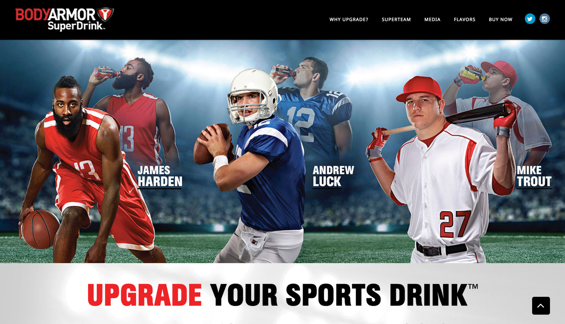 James Harden, Andrew Luck and Mike Trout for BodyArmor SuperDrink photos by Monte Isom
