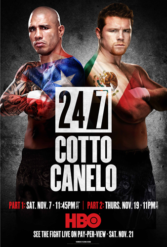 Miguel Cotto vs Canelo Alvarez 24/7 for HBO Boxing photo by Monte Isom