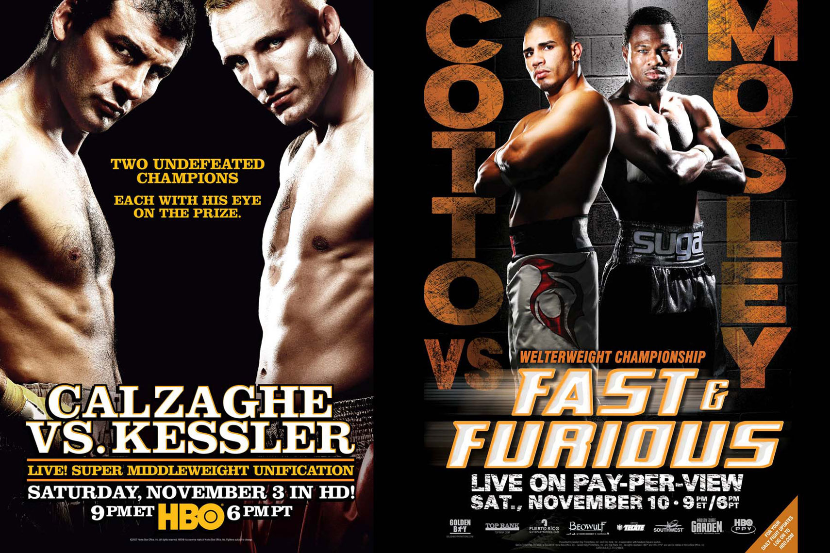 Calzaghe Kessler Mosley Cotto poster Photo by monte isom