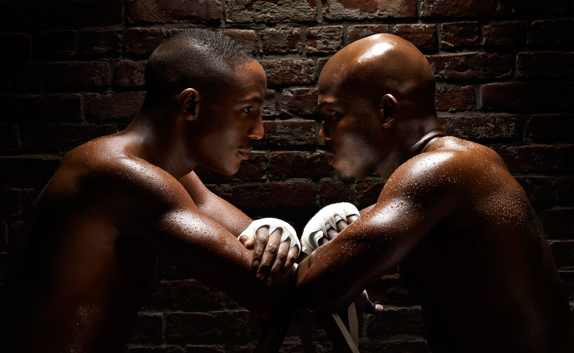 Devon Alexander Timothy Bradley stare photo by Monte Isom