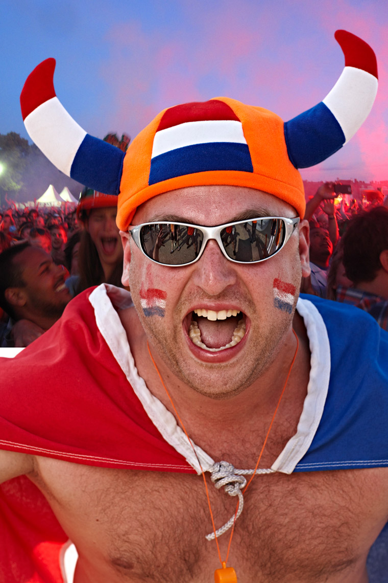 Dutch soccer fan from Holland Photo by Monte Isom Fans of the World Cup