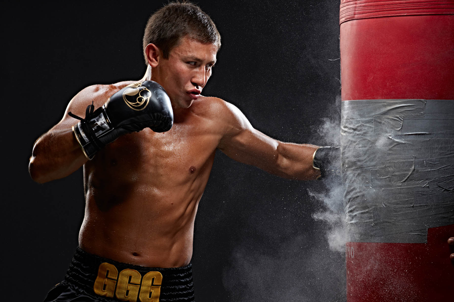 Gennady Golovkin for HBO boxing photo by Monte Isom