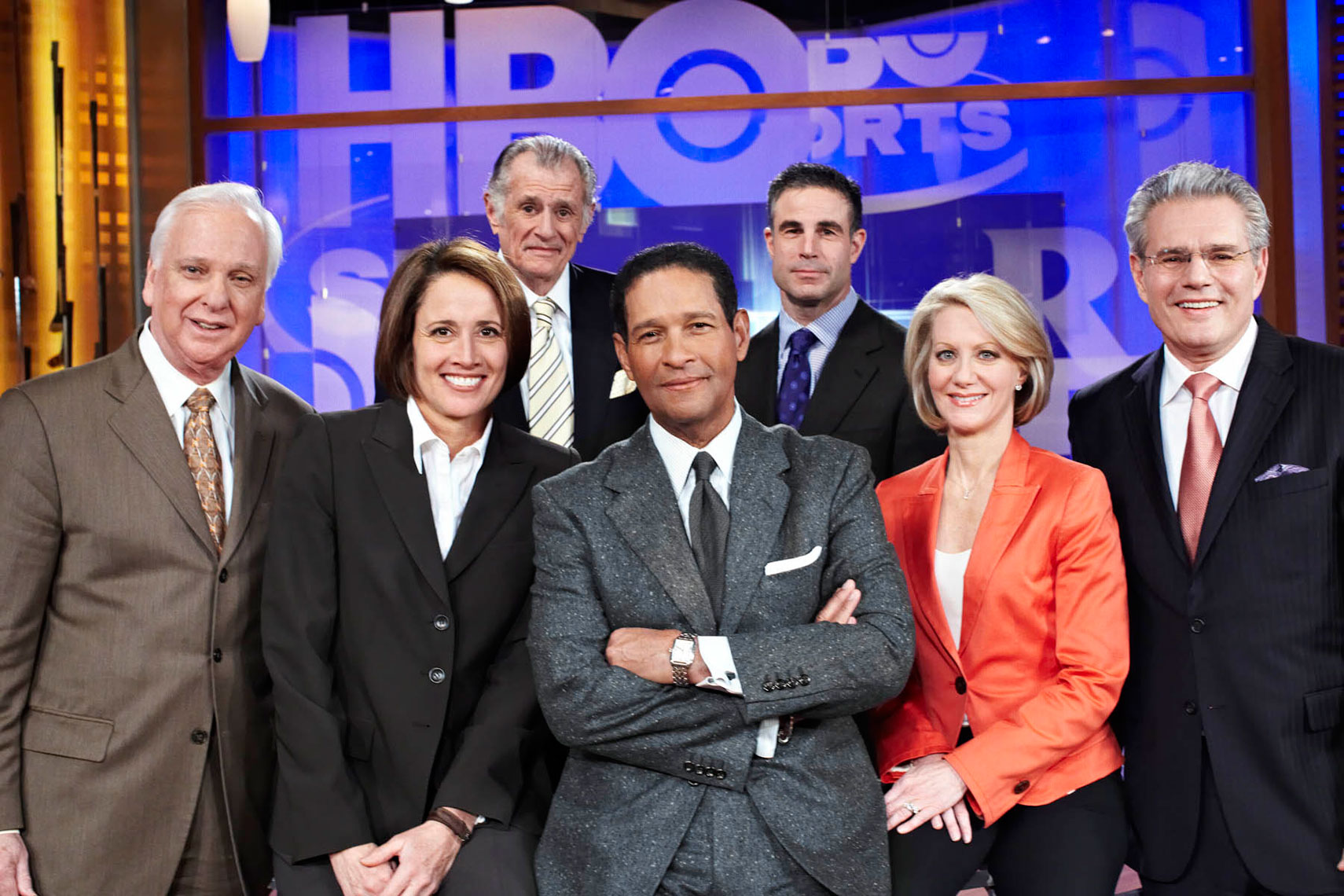 HBO Real Sports cast with Bryant Gumbel photo by Monte Isom