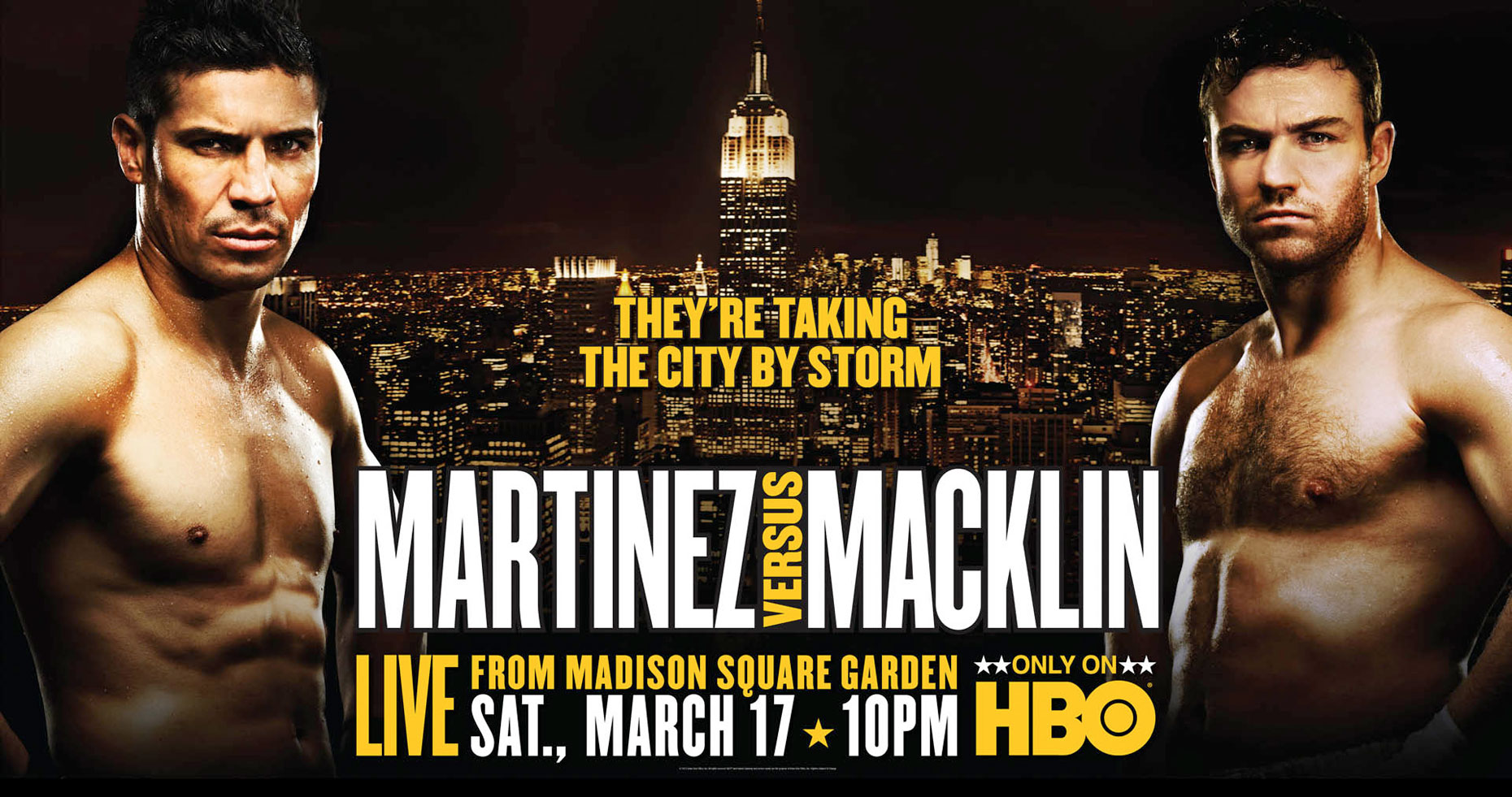 Sergio Martinez vs Macklin HBO poster photo by Monte Isom