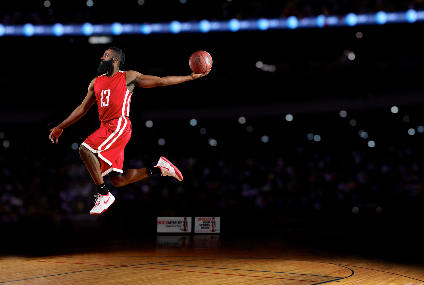 James Harden of Houston for BodyArmor photo by Monte Isom
