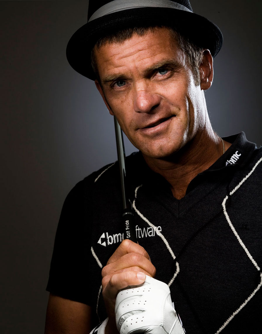 Swedish PGA golfer Jesper Parnevic portrait photo by Monte Isom