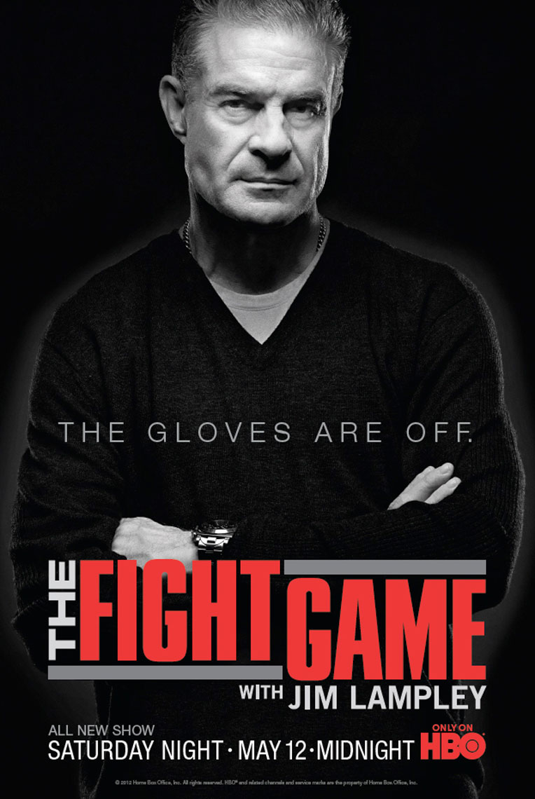 HBO Jim Lampley The Fight Game poster photo by Monte Isom