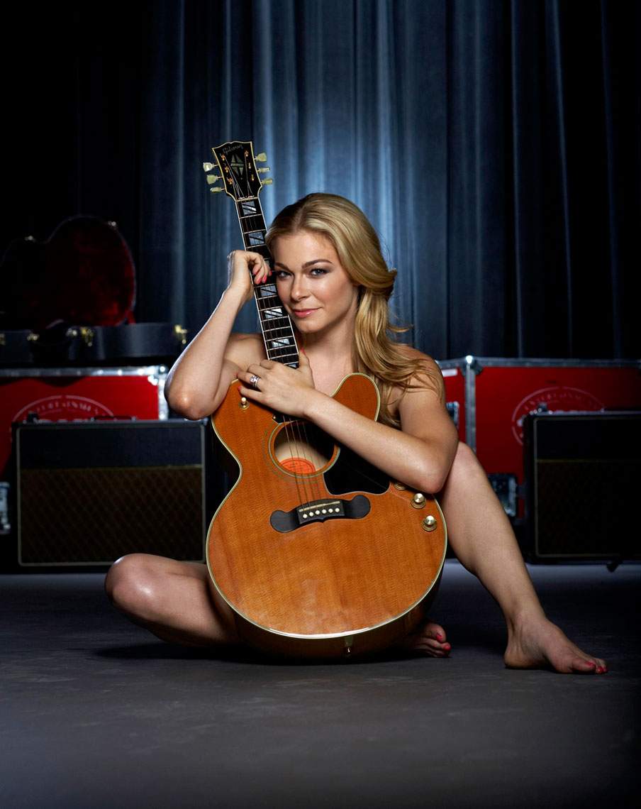 LeAnn Rimes nude behind a guitar  photo by Monte Isom