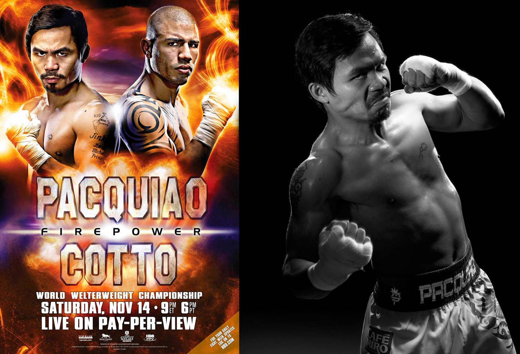 Manny Pacquiao Miguel Cotto poster photo by monte isom