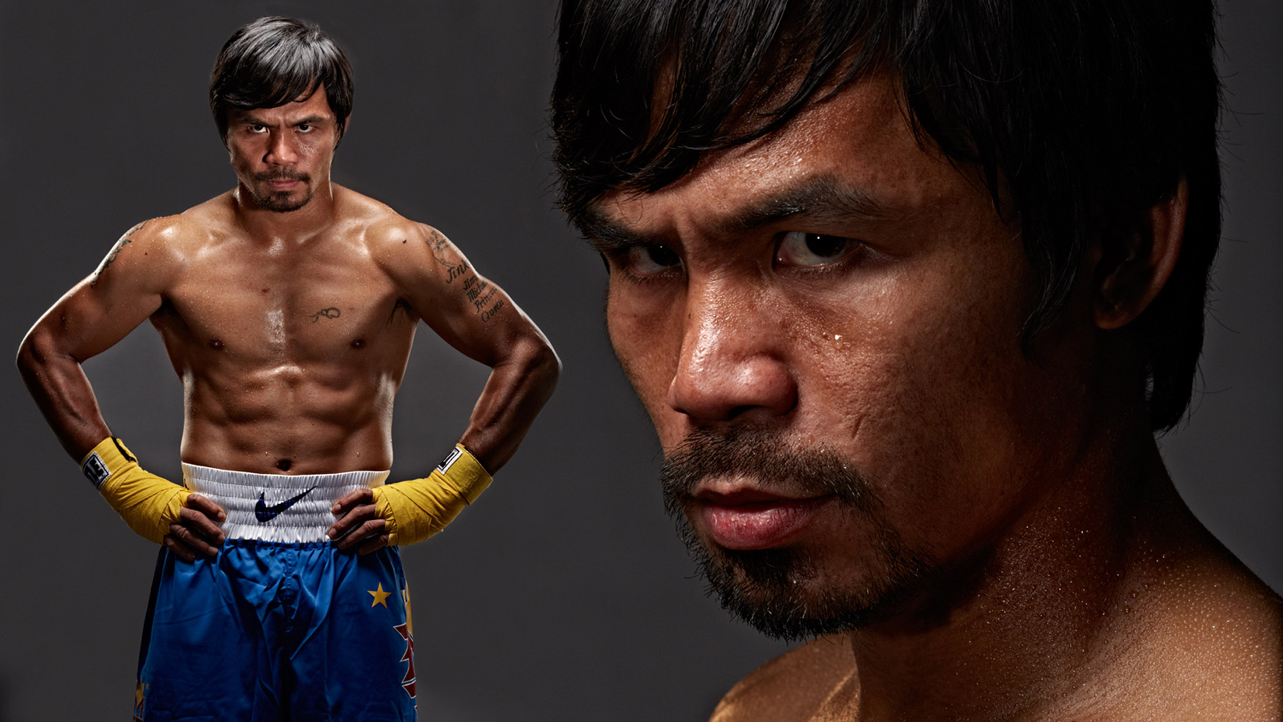 Manny Pacquiao portrait photo by Monte Isom