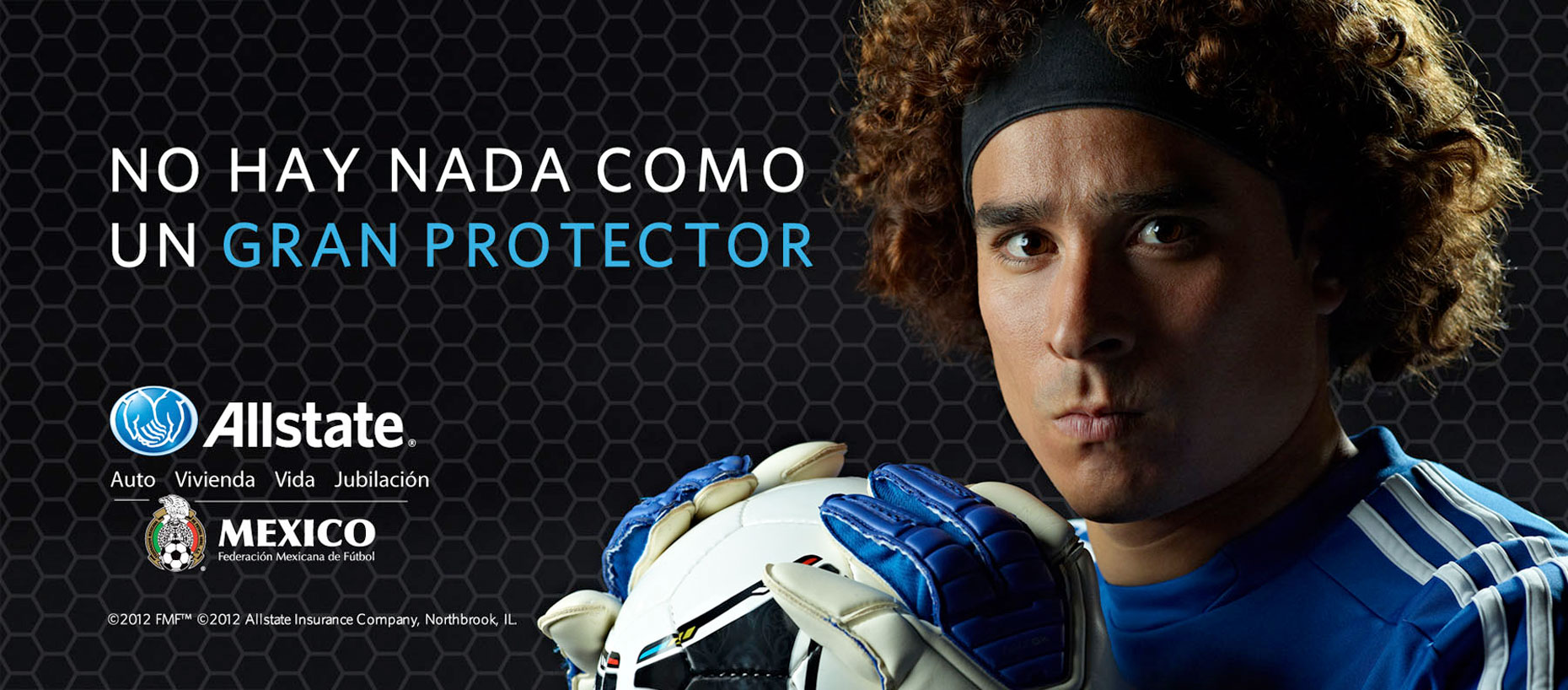 Memo Ochoa Mexican Goalie Allstate ad photo by Monte Isom