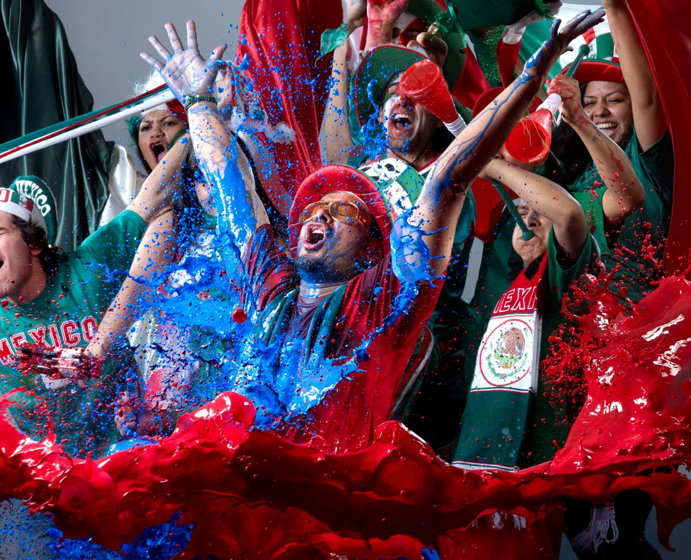 Mexican Futbol fans EA Sports FIFA world cup 2010 photo by Monte Isom