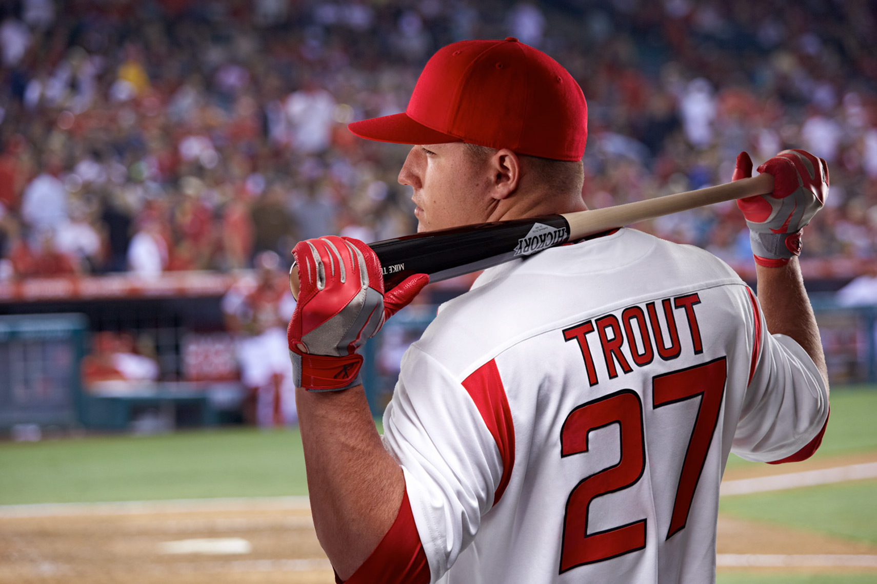 Mike Trout LA Angels for BodyArmor SuperDrink by Monte Isom