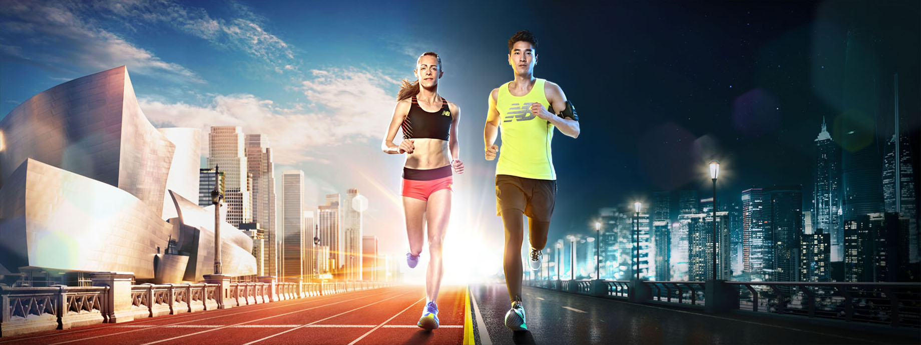 Jenny Simpson Mark Chao New Balance China photo Monte Isom