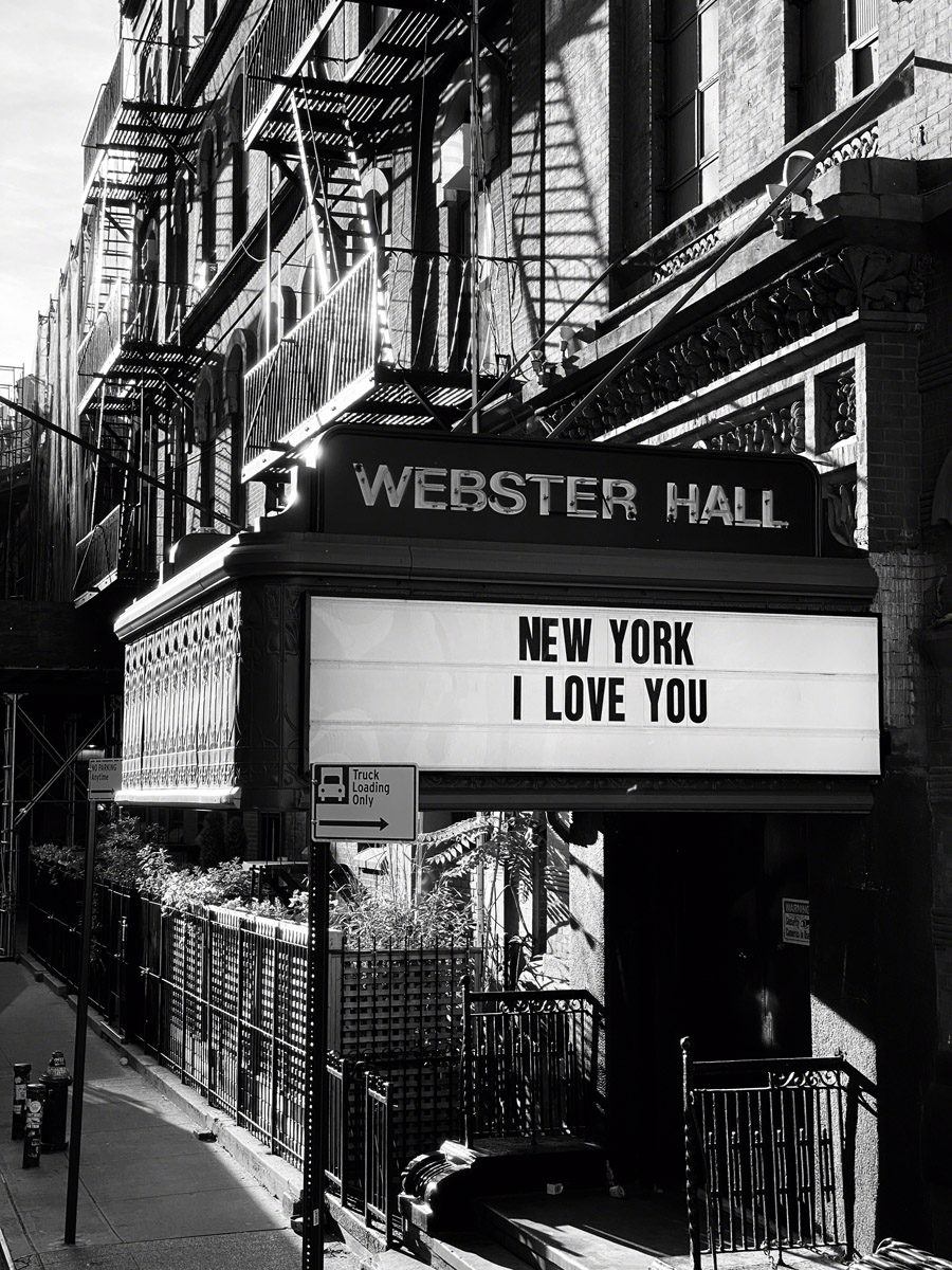 Webster hall Sign New York I love You during Coronavirus pandemic