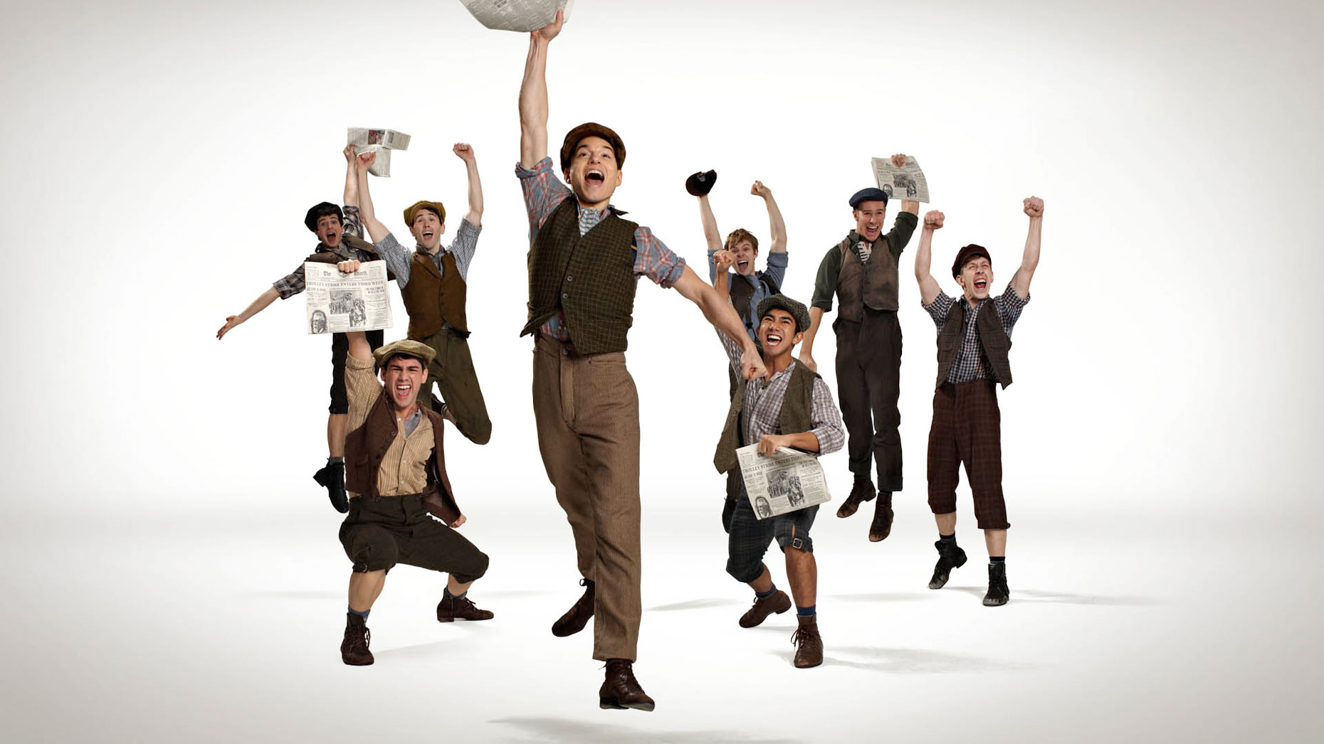 Newsies Broadway musical photo by Monte Isom
