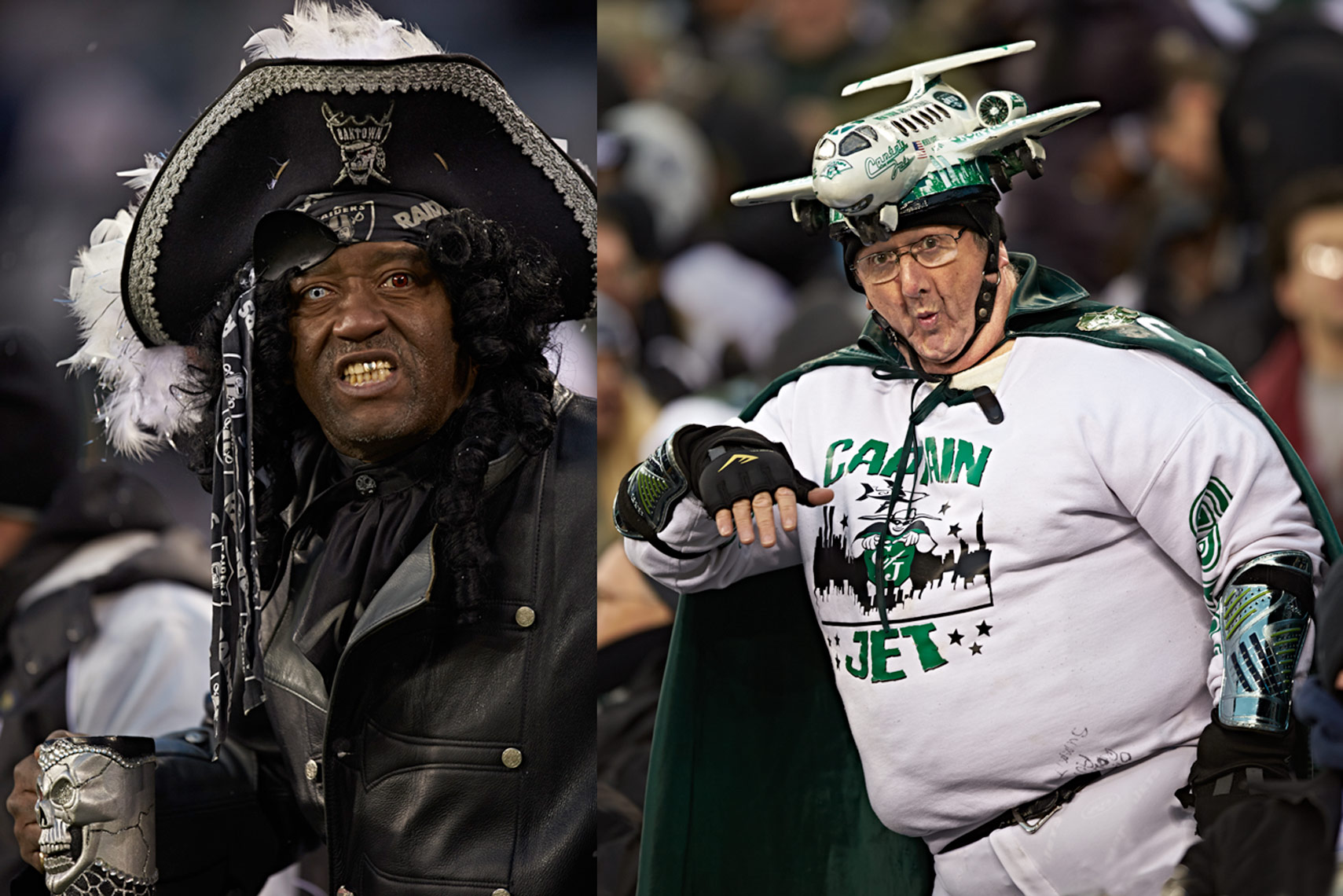 Oakland Raiders and New York Jets Football Fans Photo by Monte Isom