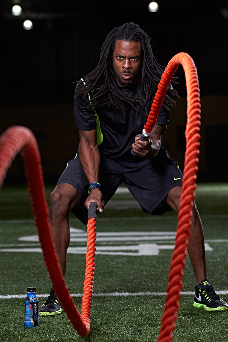 Richard Sherman For BodyArmor Photo By Monte Isom
