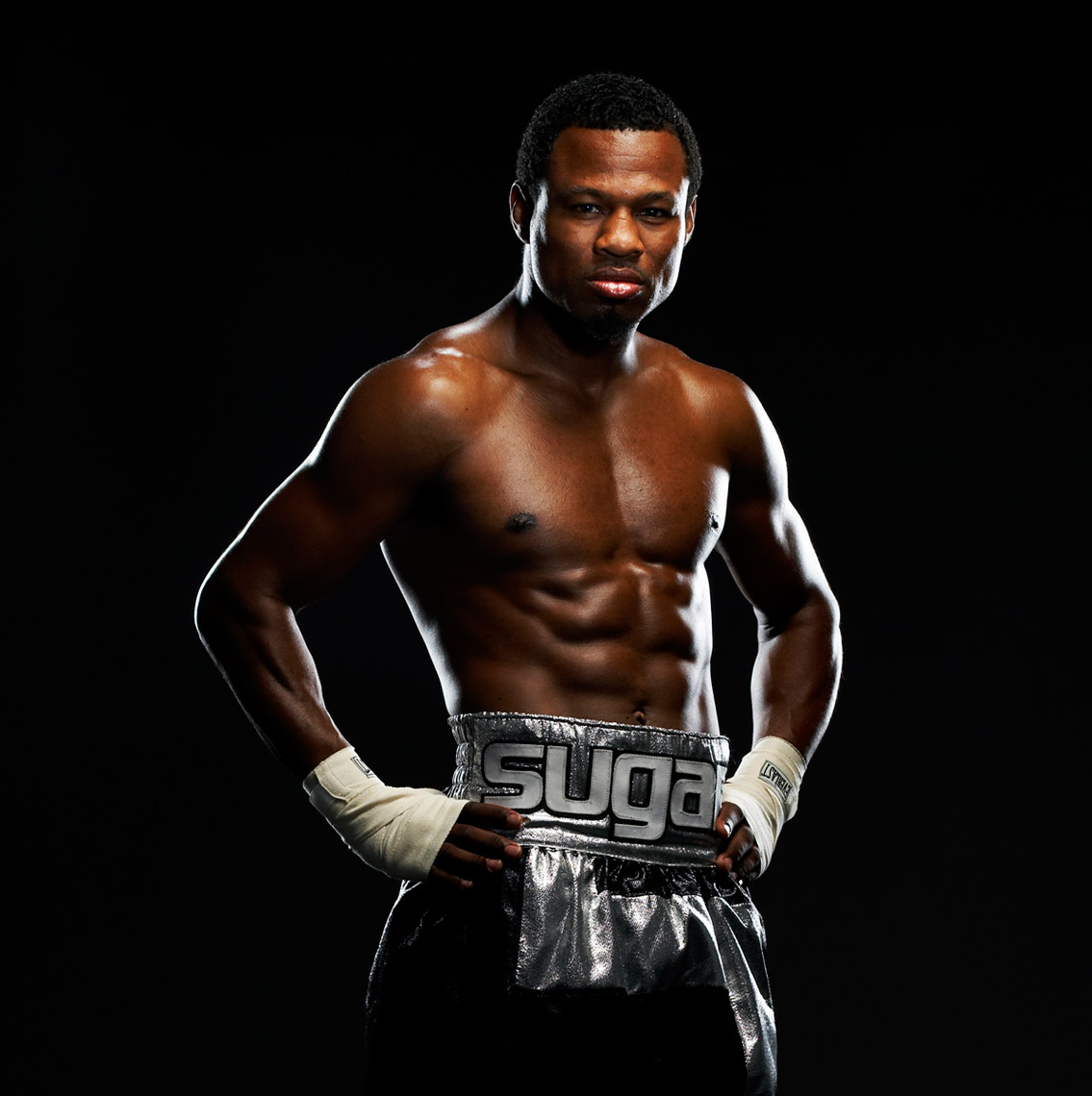 Sugar Shane Mosely for HBO boxing  Photo by Monte Isom