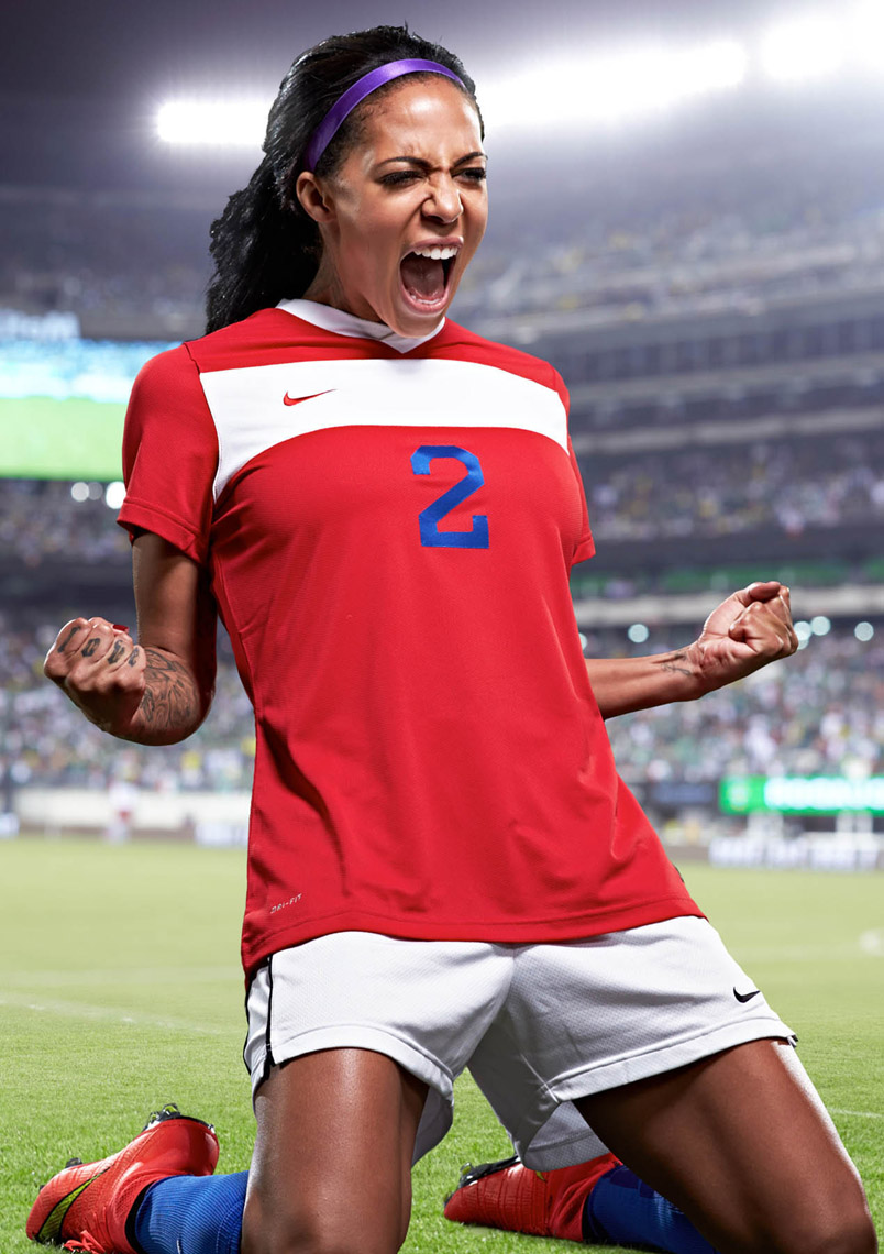 Sydney Leroux USWNT World Ciup Champion Soccer Player Photo By Monte Isom