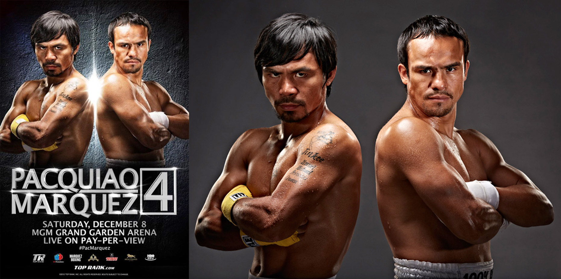 Pacquiao vs Marquez 4 fight poster photo by Monte Isom
