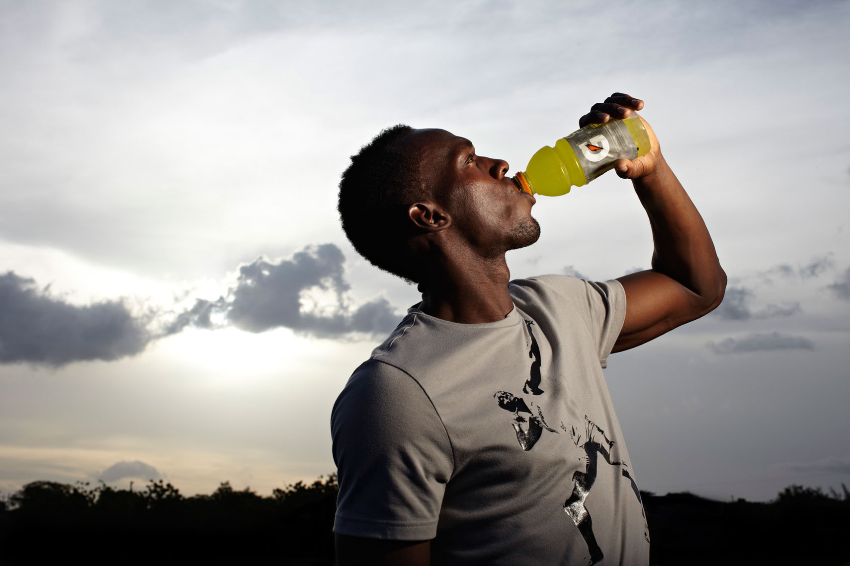 Usain Bolt Drink Gatorade photo by monte isom