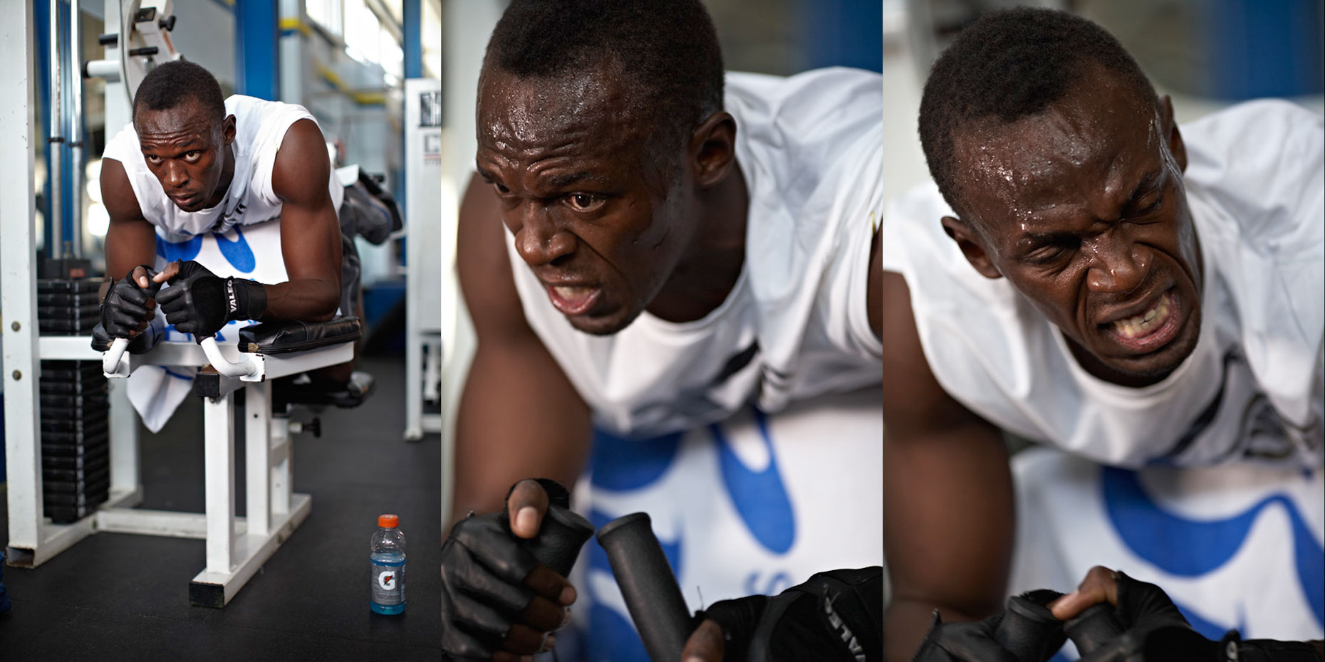 Usain Bolt workout Gatorade photo by monte isom