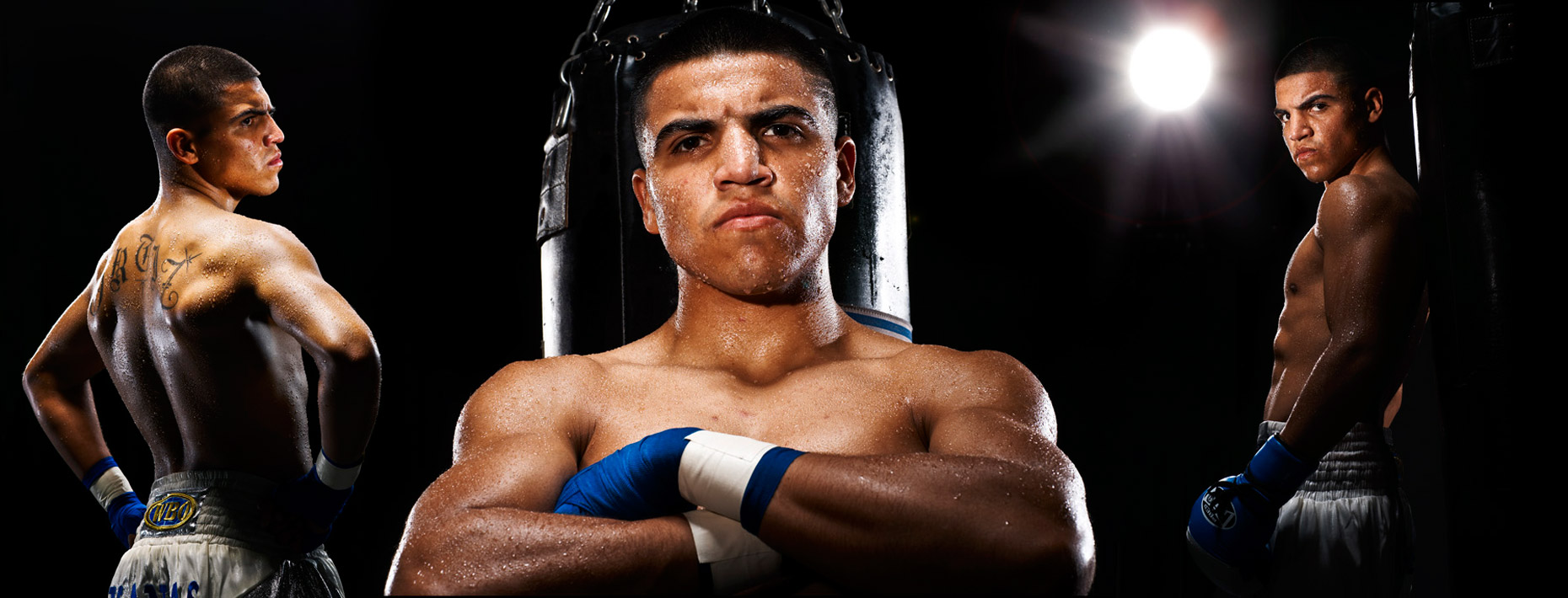Victor Ortiz portrait for HBO boxing photo by monte isom