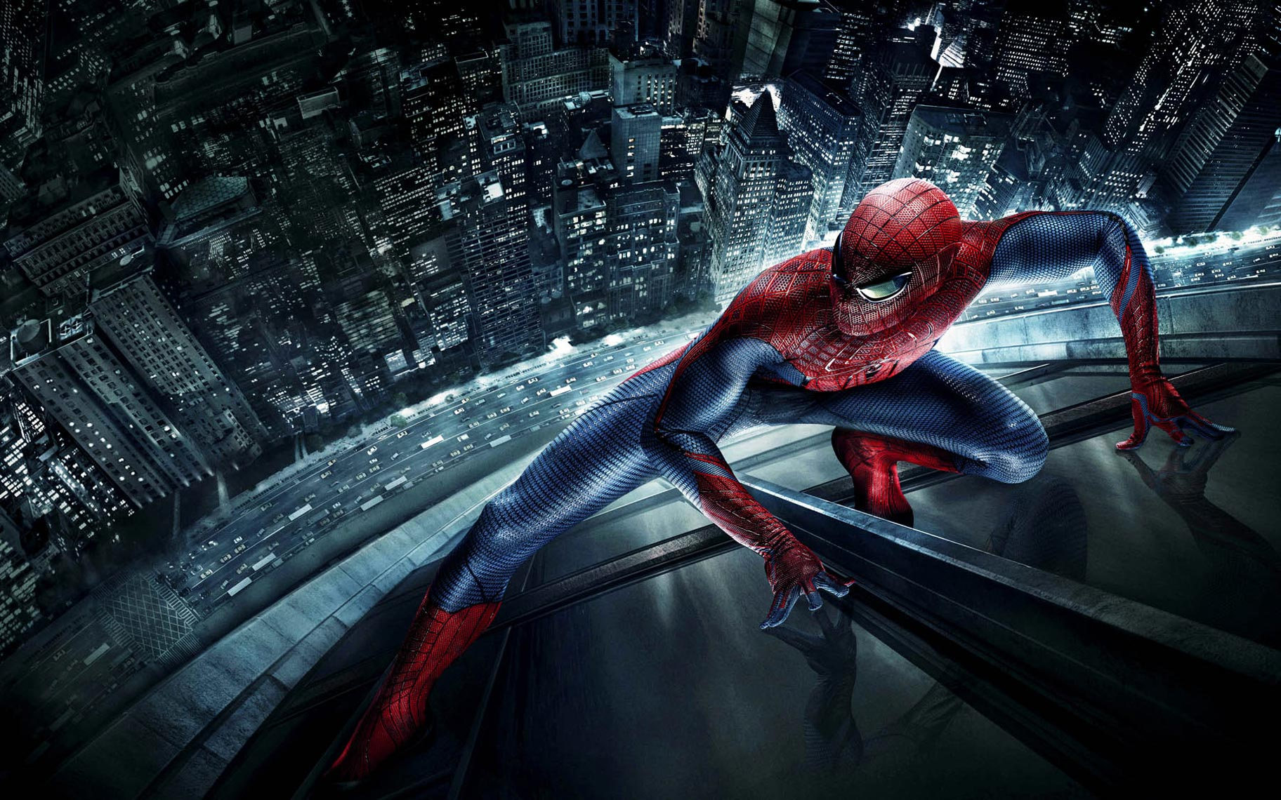 Amazing Spiderman Movie poster cityscapes photo by Monte Isom
