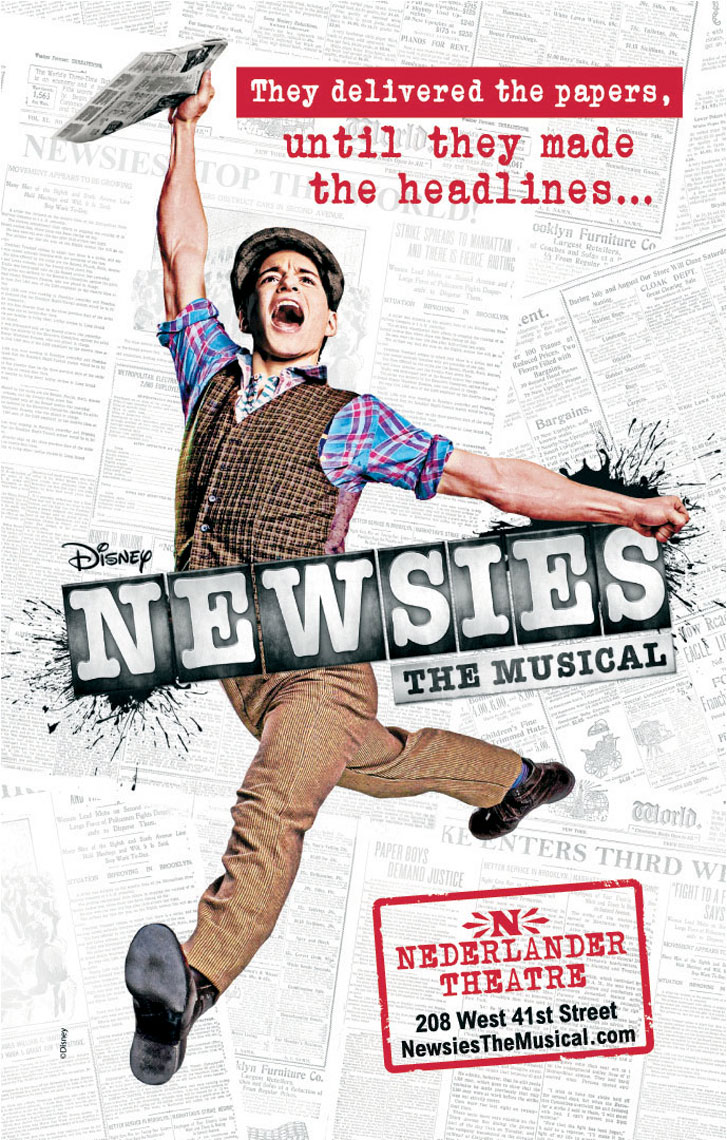 Newsies official poster photo by Monte Isom